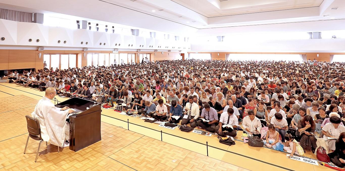 全體講義 「日蓮大聖人的一生」,教學部主任樽澤道廣尊師