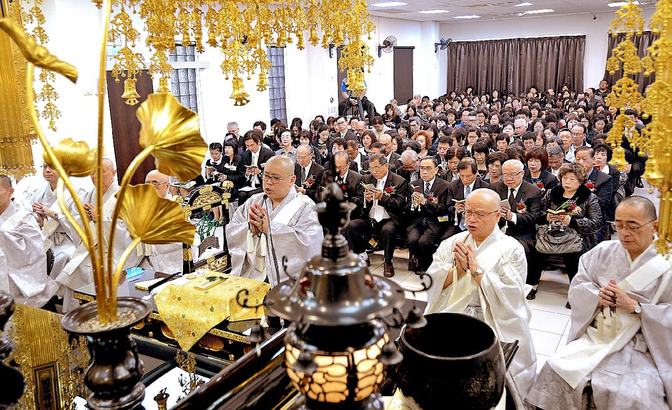 法宣院二十年有成,全國各地信徒代表歡喜同慶。