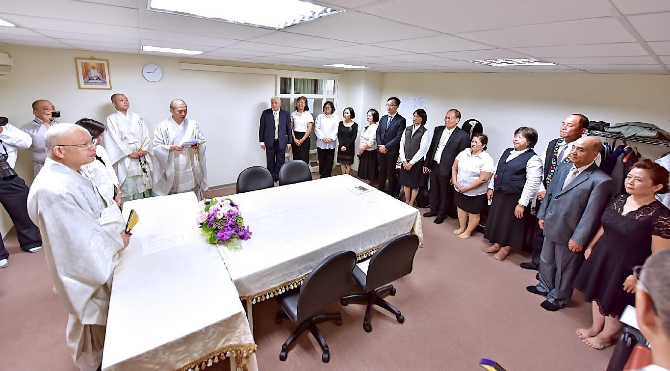 海外部長接見花東本部役員代表
