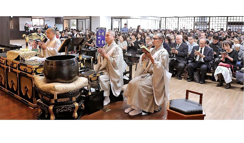 全台十座寺院於一○八年十一月七日,奉修日顯上人七七日御忌法會。圖為本興院的法會。