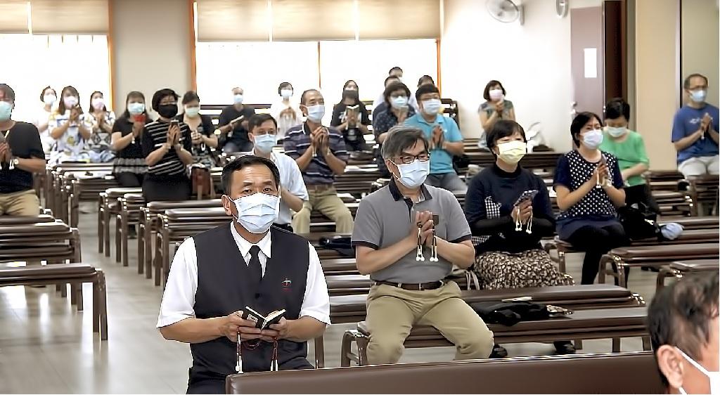 五月份御講正值新冠肺炎疫情期間,仍以信徒代表參詣方式舉行
