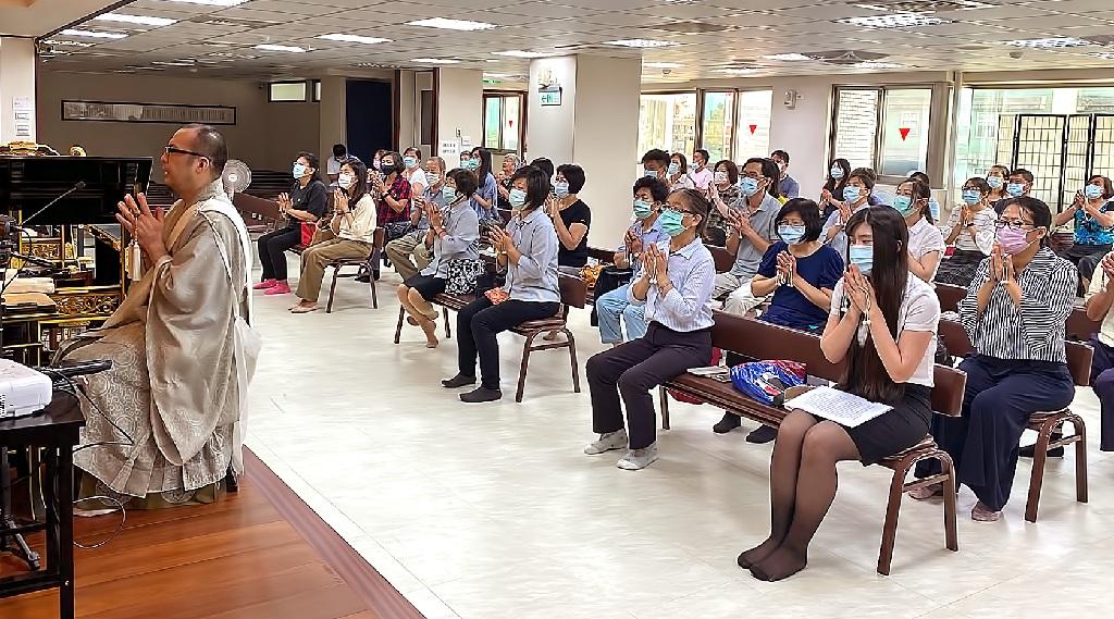 因應新冠肺炎疫情趨緩,妙照院六月份御講開放一百位信徒參詣