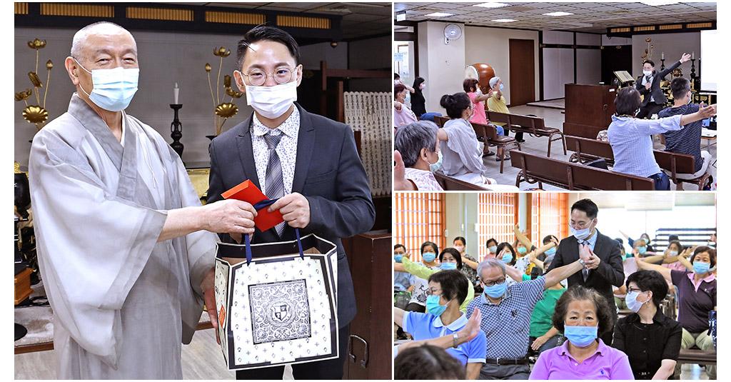 許圳凱講師以「筋骨養生保健」為主題,分享正確的體態保養觀念。